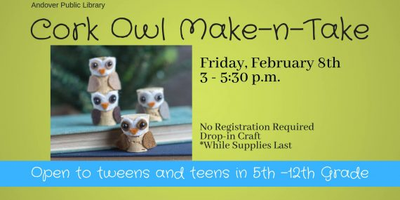 Owl Make-n-take at Andover Public Library